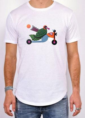 Tshirt Oiseau moto