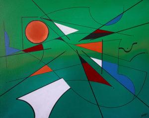 Géometrie sur vert