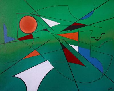 Géométrie sur vert