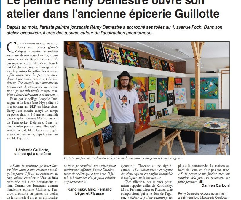 Article de presse Haute-Saintonge
